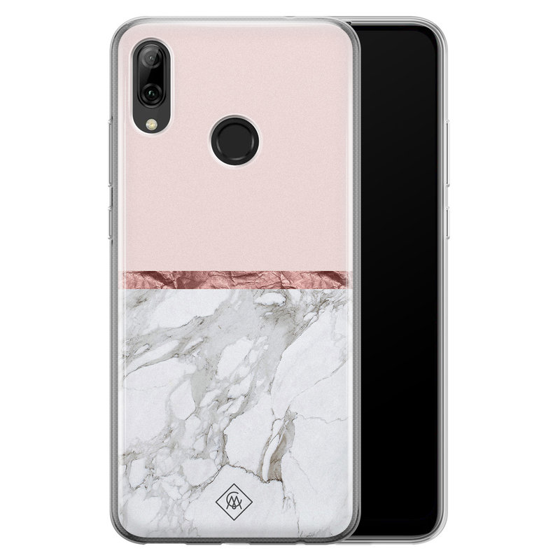Casimoda Huawei P Smart 2019 siliconen telefoonhoesje - Rose all day