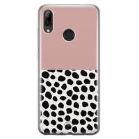 Casimoda Huawei P Smart 2019 siliconen hoesje - Pink dots