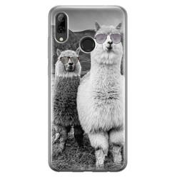 Casimoda Huawei P Smart 2019 siliconen hoesje - Llama hipster