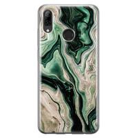 Casimoda Huawei P Smart 2019 siliconen hoesje - Green waves