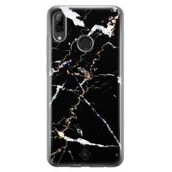 Casimoda Huawei P Smart 2019 siliconen hoesje - Marmer zwart