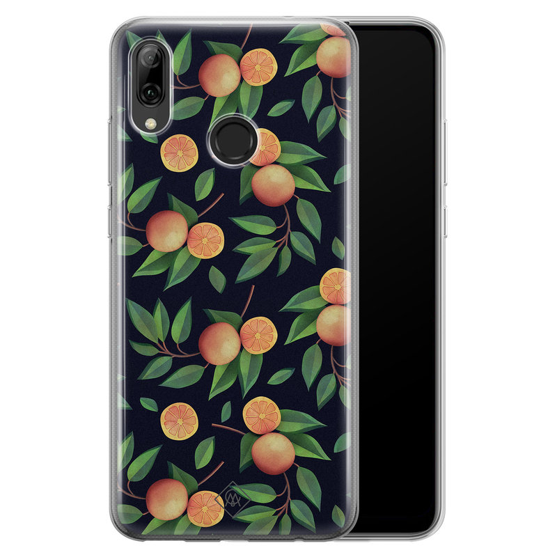 Casimoda Huawei P Smart 2019 siliconen hoesje - Orange lemonade
