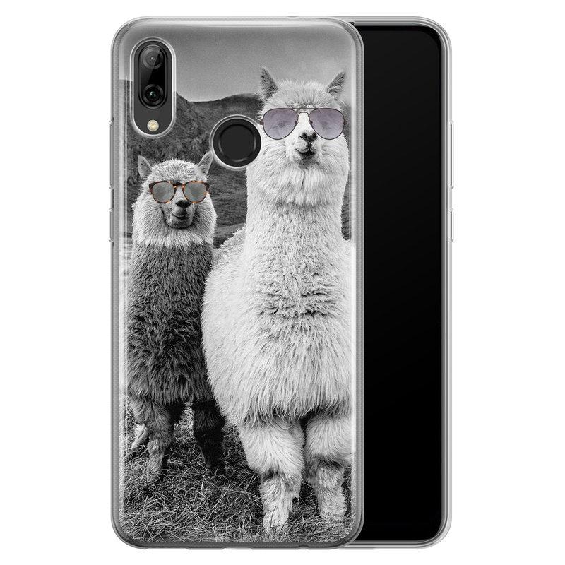Casimoda Huawei P Smart 2019 siliconen telefoonhoesje - Llama hipster