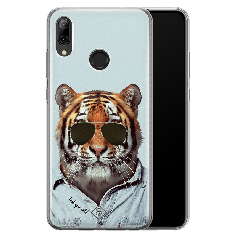 Casimoda Huawei P Smart 2019 siliconen hoesje - Tijger wild