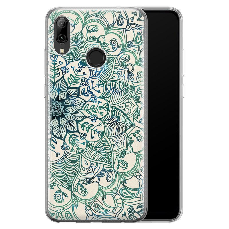 Casimoda Huawei P Smart 2019 siliconen hoesje - Mandala blauw
