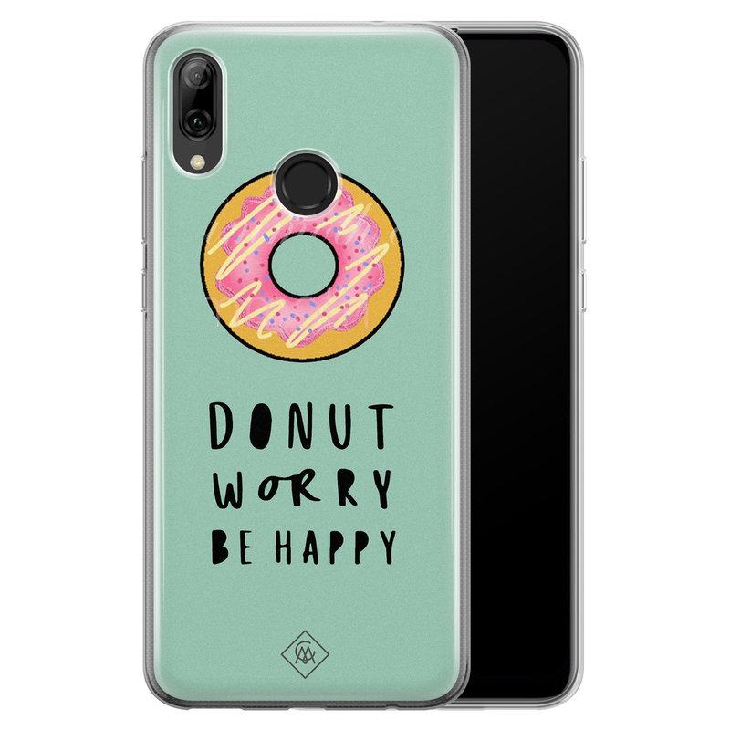Casimoda Huawei P Smart 2019 siliconen hoesje - Donut worry