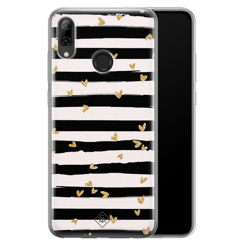 Casimoda Huawei P Smart 2019 siliconen telefoonhoesje - Hart streepjes