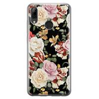 Casimoda Huawei P Smart 2019 siliconen hoesje - Flowerpower