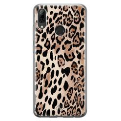 Casimoda Huawei P Smart 2019 siliconen hoesje - Golden wildcat
