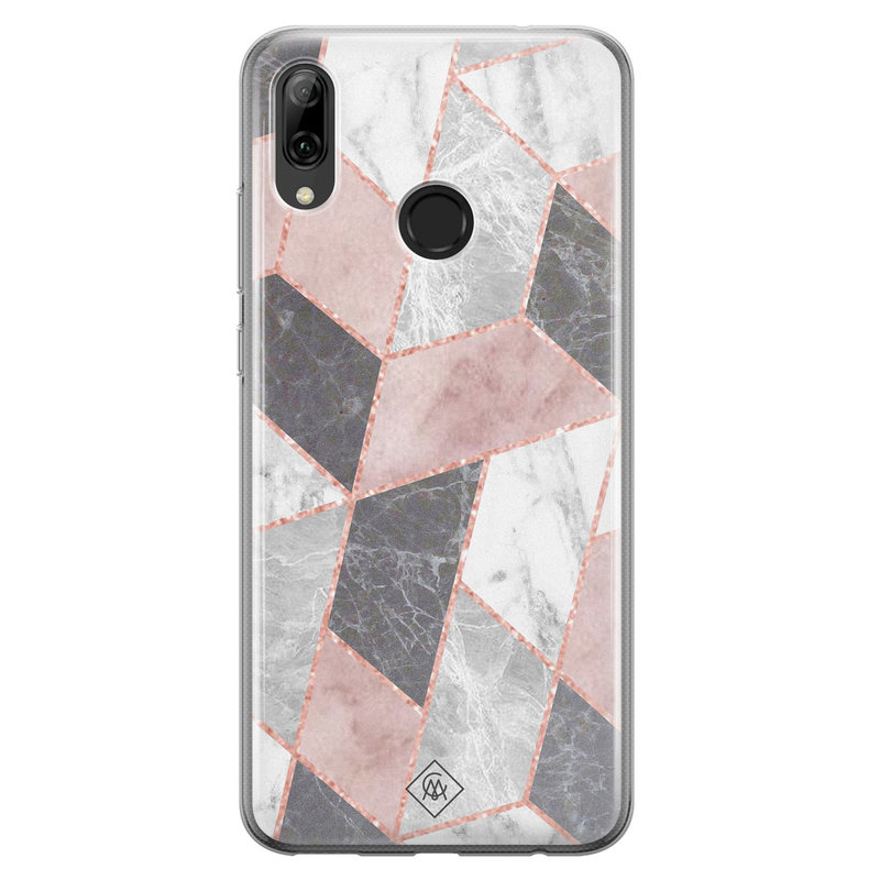 Casimoda Huawei P Smart 2019 siliconen telefoonhoesje - Stone grid