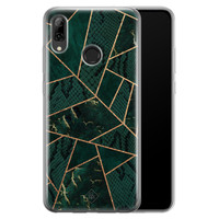 Casimoda Huawei P Smart 2019 siliconen hoesje - Abstract groen