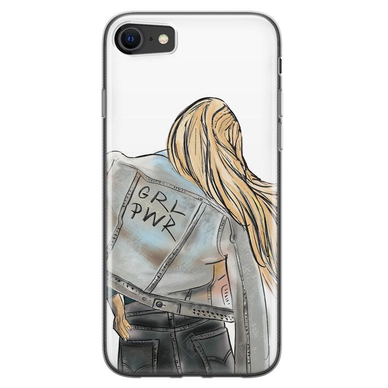 Casimoda iPhone SE 2020 siliconen hoesje - GRL PWR