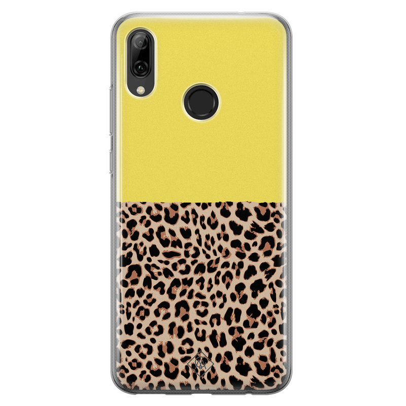 Huawei P Smart 2019 siliconen hoesjje - Luipaard geel
