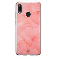 Huawei P Smart 2019 siliconen hoesje - Marmer roze