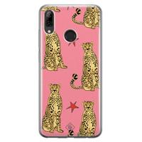 Huawei P Smart 2019 siliconen hoesje - The pink leopard