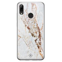 Casimoda Huawei P Smart 2019 siliconen hoesje - Marmer goud