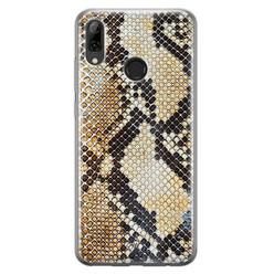 Huawei P Smart 2019 siliconen hoesje - Golden snake