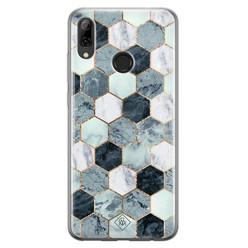 Casimoda Huawei P Smart 2019 siliconen hoesje - Blue cubes
