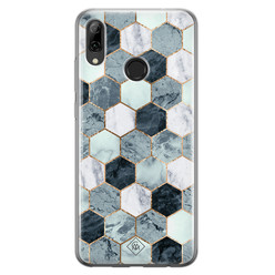 Huawei P Smart 2019 siliconen hoesje - Blue cubes