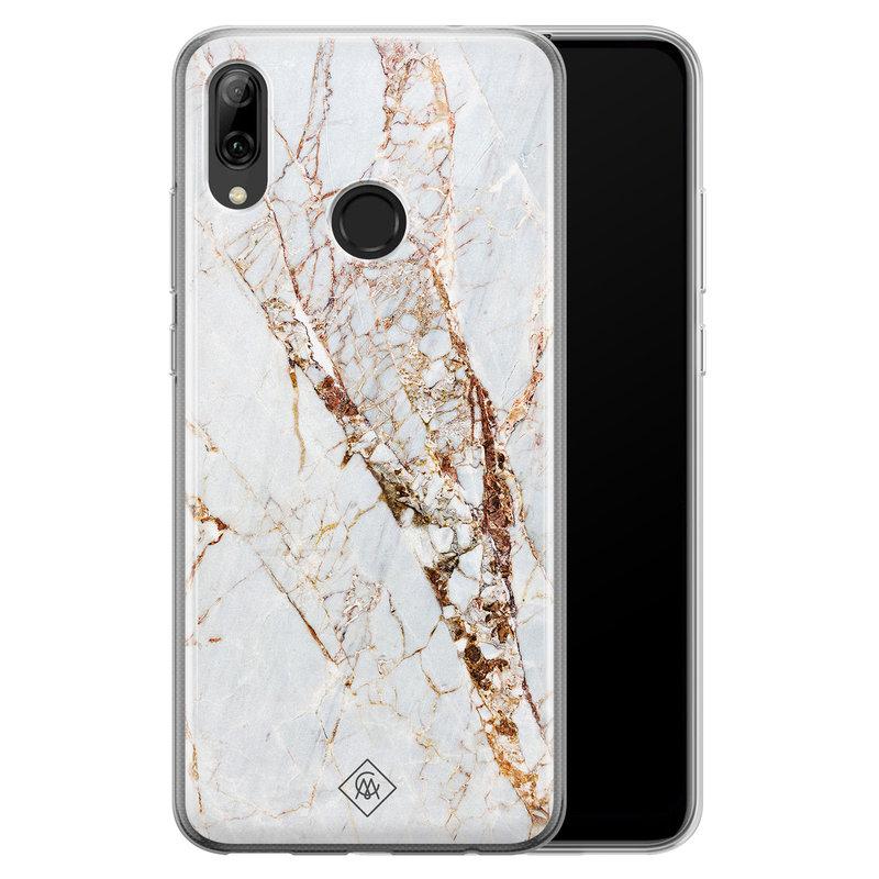 Huawei P Smart 2019 siliconen hoesje - Marmer goud