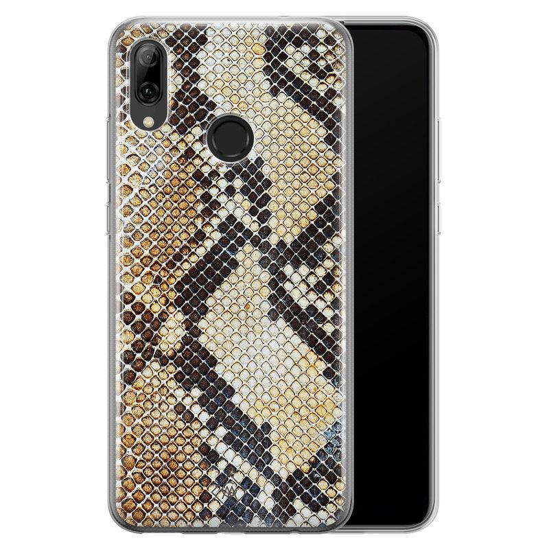 Casimoda Huawei P Smart 2019 siliconen hoesje - Golden snake