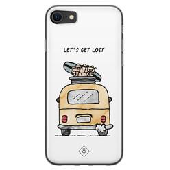 Casimoda iPhone SE 2020 siliconen hoesje - Let's get lost