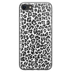 Casimoda iPhone SE 2020 siliconen hoesje - Luipaard grijs
