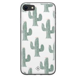 Casimoda iPhone SE 2020 siliconen hoesje - Cactus print