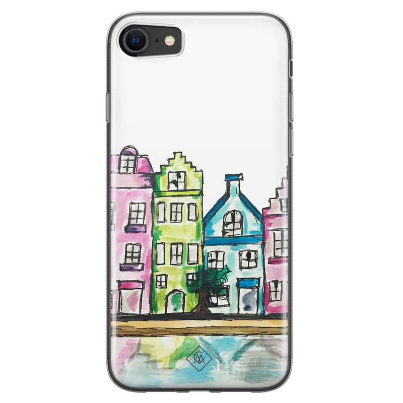 Casimoda iPhone SE 2020 siliconen telefoonhoesje - Amsterdam