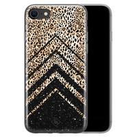 Casimoda iPhone SE 2020 siliconen hoesje - Chevron luipaard