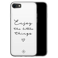 Casimoda iPhone SE 2020 siliconen hoesje - Enjoy life