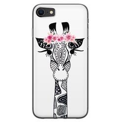 Casimoda iPhone SE 2020 siliconen hoesje - Giraffe