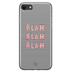 Casimoda iPhone SE 2020 siliconen hoesje - Blah blah blah