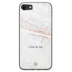 Casimoda iPhone SE 2020 siliconen hoesje - C'est la vie