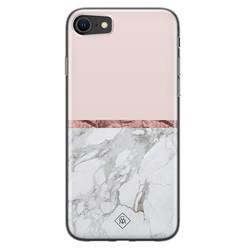 Casimoda iPhone SE 2020 siliconen hoesje - Rose all day