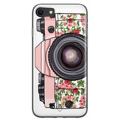 Casimoda iPhone SE 2020 siliconen hoesje - Hippie camera