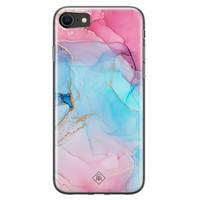 Casimoda iPhone SE 2020 siliconen hoesje - Marble colorbomb