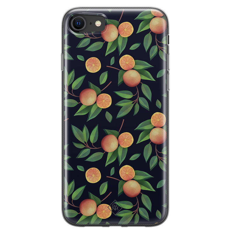 Casimoda iPhone SE 2020 siliconen hoesje - Orange lemonade