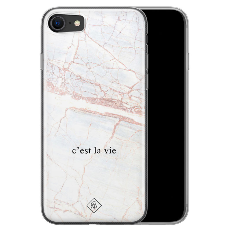 Casimoda iPhone SE 2020 siliconen telefoonhoesje - C'est la vie
