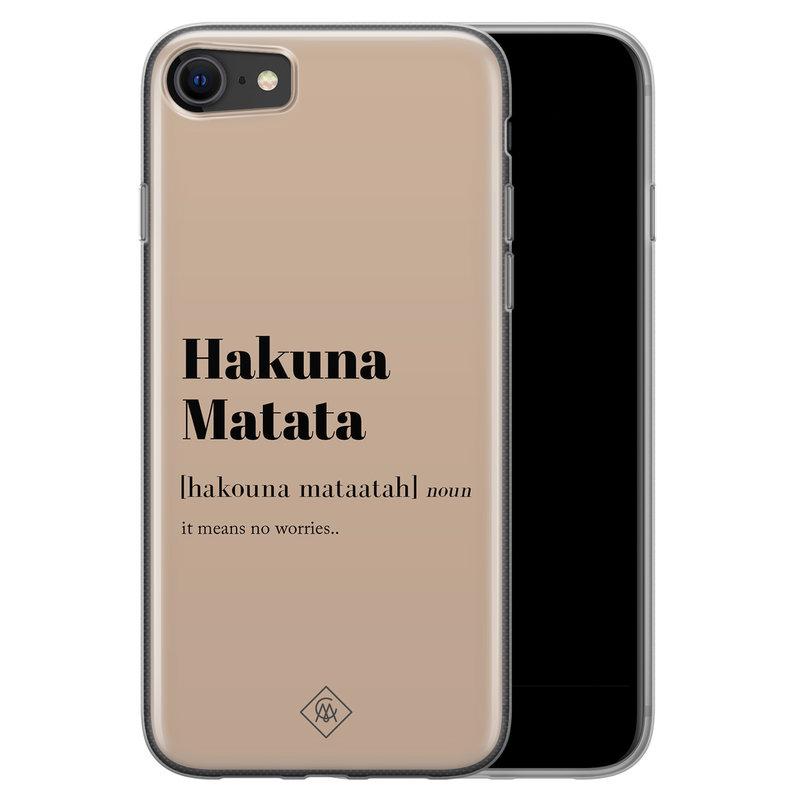 Casimoda iPhone SE 2020 siliconen hoesje - Hakuna matata