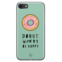 Casimoda iPhone SE 2020 siliconen hoesje - Donut worry
