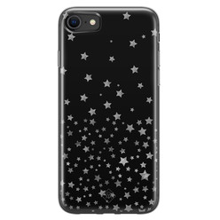 Casimoda iPhone SE 2020 siliconen hoesje - Falling stars