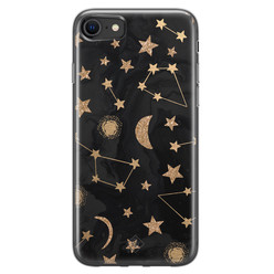 Casimoda iPhone SE 2020 siliconen hoesje - Counting the stars