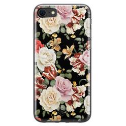 Casimoda iPhone SE 2020 siliconen hoesje - Flowerpower