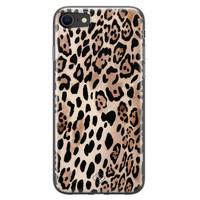 Casimoda iPhone SE 2020 siliconen hoesje - Golden wildcat