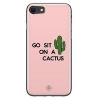 Casimoda iPhone SE 2020 siliconen hoesje - Go sit on a cactus