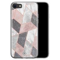 Casimoda iPhone SE 2020 siliconen telefoonhoesje - Stone grid