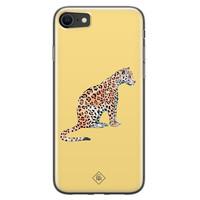 Casimoda iPhone SE 2020 siliconen hoesje - Leo wild