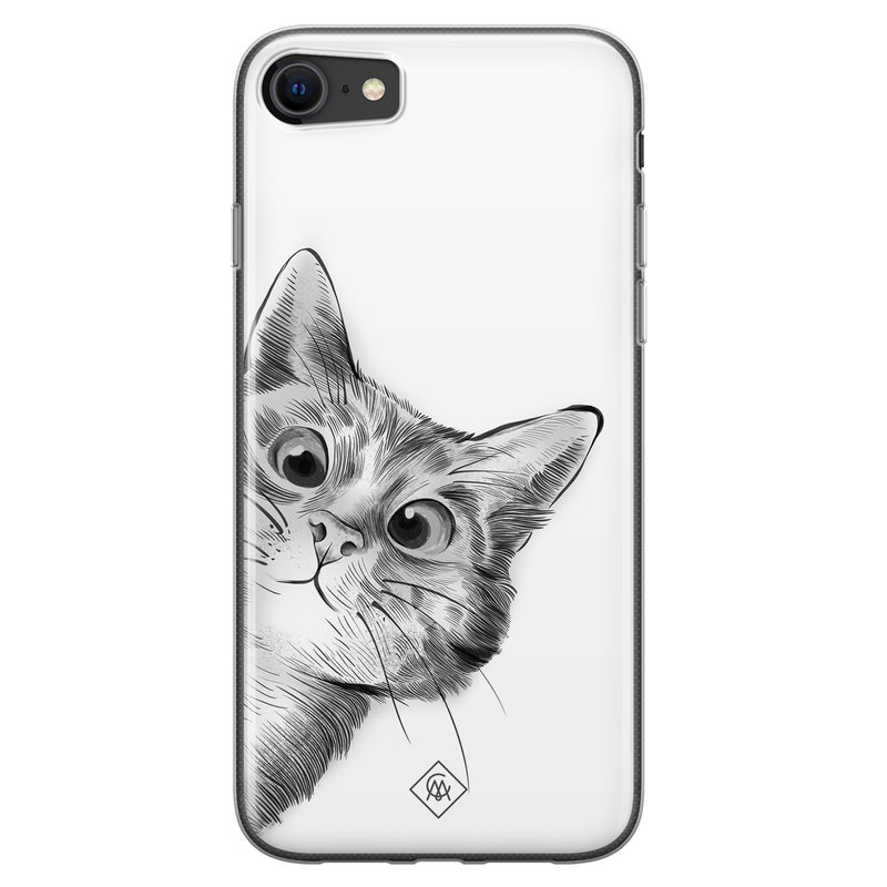 Casimoda iPhone SE 2020 siliconen hoesje - Peekaboo