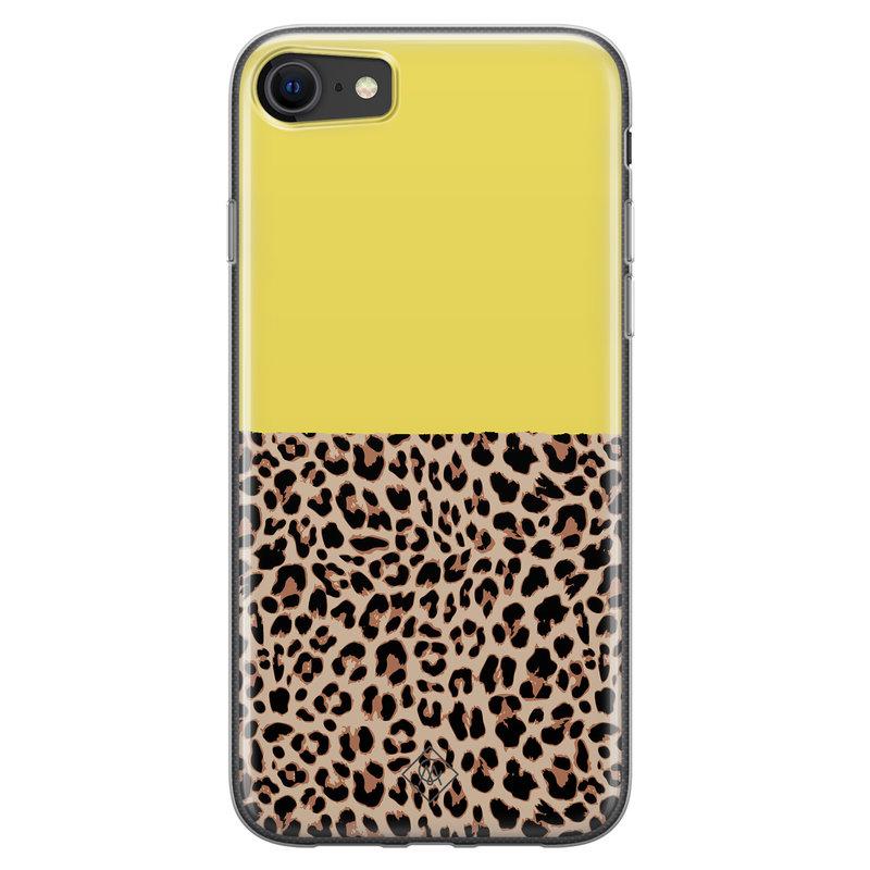 Casimoda iPhone SE 2020 siliconen hoesjje - Luipaard geel